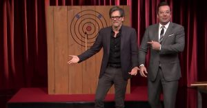 Kevin Bacon. Throwing Axes. On Late Night Television. That's It. What More Do You Need
